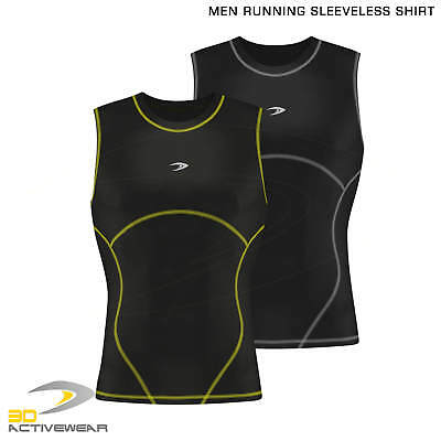 Men's Compression Tops Running Sleeveless Sports Shirt Armour Base Layer