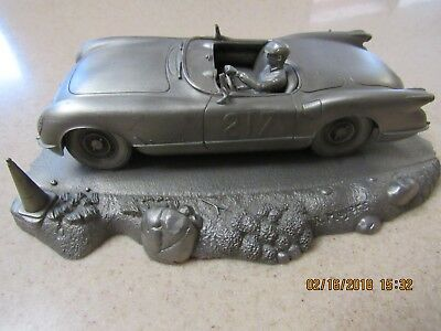 """1978 Corvette, Scca Tribute """"weekend Sprint"""", Fine Pewter By R. Meyers"""