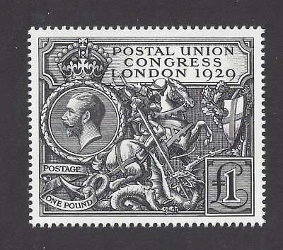 1929 Puc £1 High Quality Official Royal Mail Intaglio Printed Perfed Facsimile