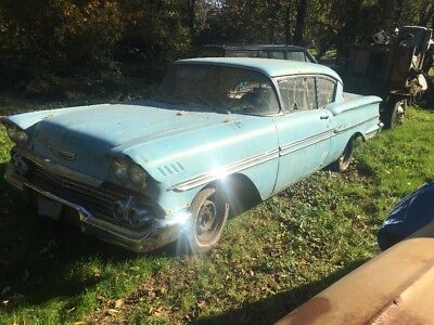 1958 Chevrolet Impala Biscayne with Stainless Trim 1958 Chevrolet Biscayne Two Door Sedan