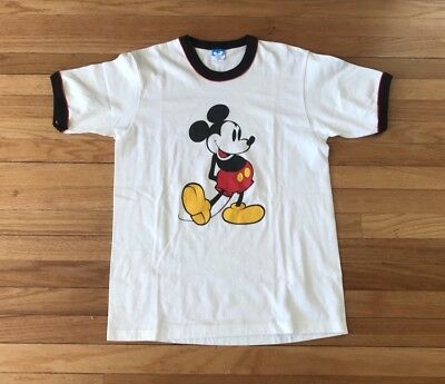 b79964683 VTG 70s 80s Mickey Mouse WALT DISNEY PRODUCTIONS Unisex XL Ringer Tee-T  Shirt
