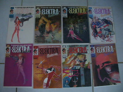 Electra Assain Limited Series 1986 1-8 Complete  Lot 16 Total   Marvel Comics
