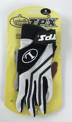 Louisville Slugger Tpx Freestyle 1.0 Batting Gloves Size S Black White Gray