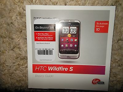 HTC Wildfire S Cell Phone Basics Guide, original, unused, in English and Spanish