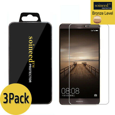 [3-Pack] SOINEED Tempered Glass Screen Protector Saver For Huawei Mate 9