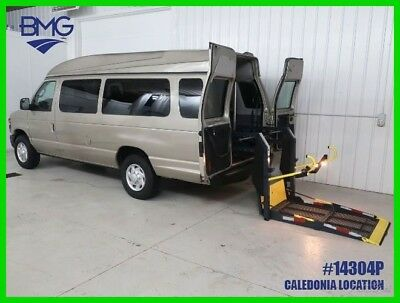 2009 Ford E-Series Van E-350 Extended Highroof  Handicap Accessible Wheelchair Van Wheel Chair Hightop Handicapped Braun Power Lift Gold V8 5.4L E350 Used
