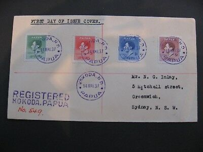 Papua New Guinea Cover to Sydney showing Violet Kokoda and Registered Cancels