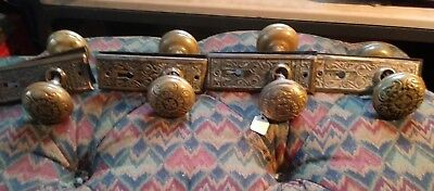 antique East Lake style brass door knobs and backplates