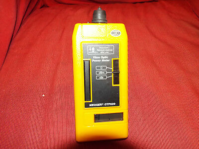 Megger OTP520 fiber optic power meter USED