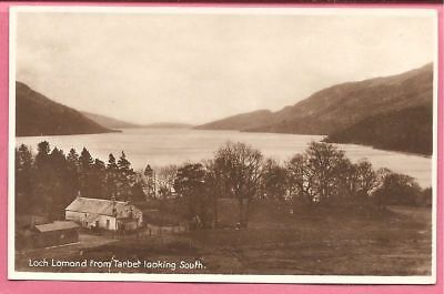 Loch Lomond from Tarbet looking South, Scotland postcard. Real Photo.