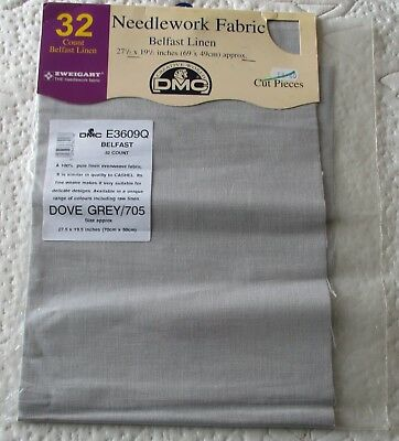 Dove Grey (705) 32 ctd. Belfast Linen 69 x 49 cm approximately