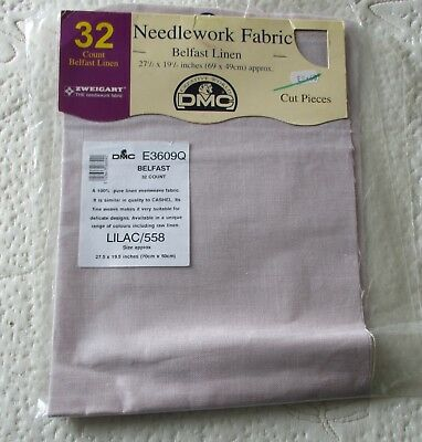 Lilac (558) 32 ctd. Belfast Linen 69 x 49 cm approximately