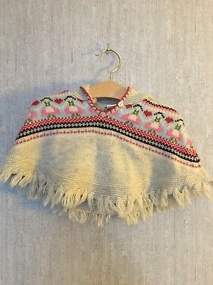 Girls Monsoon Poncho 0-12months