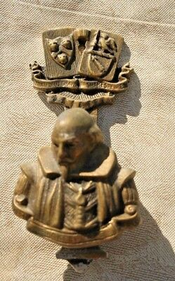 Vintage Brass Stratford on Avon Shakespeare Door Knocker