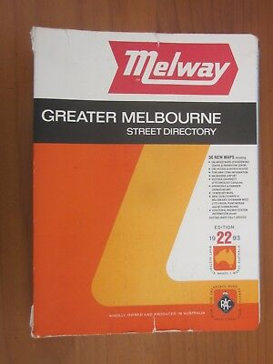 MELWAY Greater Melbourne Street Directory Edition 22 1993