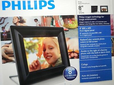 """Philips 8"""" LCD 8FF2FPB Digital Picture Frame 800 x 600 New in box Fast Free Ship"""