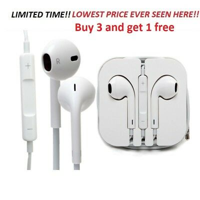Earphone earbuds for Apple iPhone 4, 5, 6 Headphones With Mic and volume