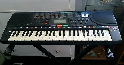 Electric piano with stand.