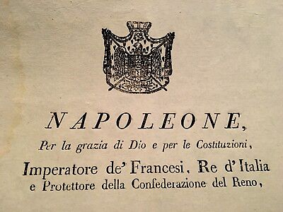 AUTHENTIC DECREE OF NAPOLEON 1809 (translation included)