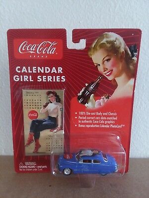 Die Cast Johnny Lightning Coca-Cola Calendar Girl Series '49 Mercury