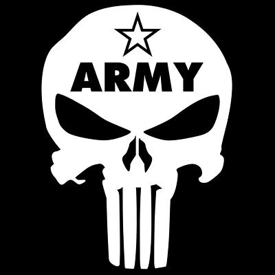Us Army Skull Punisher Us Military Star Vinyl Decal