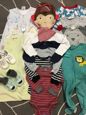 Infant/toddler Gender Neutral Clothes Mixed Lot 15 Pcs– Sizes 6-18 Months