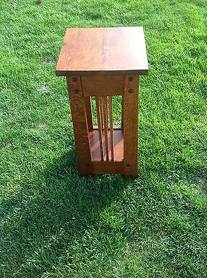 "Quarter sawn White Oak Mission Table Or Stand /end Table 26"" Tall"
