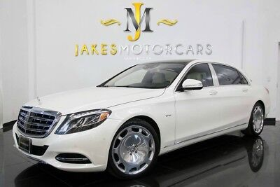 2016 Mercedes-Benz S-Class Maybach S600 ($204,370 MSRP!) 2016 MAYBACH S600~$204K MSRP!~WHITE/WHITE~EXEC REAR SEAT PKG~MAGIC SKY~6K MILES!
