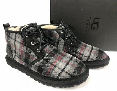 d0296729eee UGG AUSTRALIA NEUMEL Tartan Plaid Wool Chukka Boots Lace Up Shoes 1019683  sizes