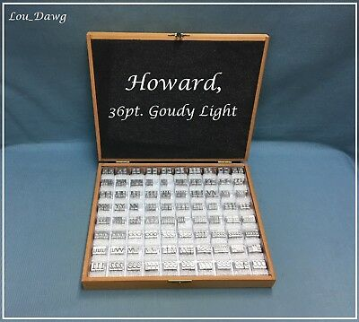 Howard Personalizer Type ( 36pt. Goudy Light ) Hot Foil Stamping Machine