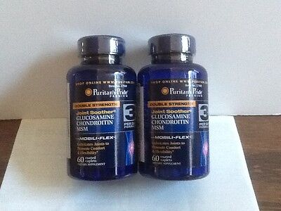 Puritan Pride Double Strength Glucosamine Chondroitin MSM Joint Soother USA, 2PK