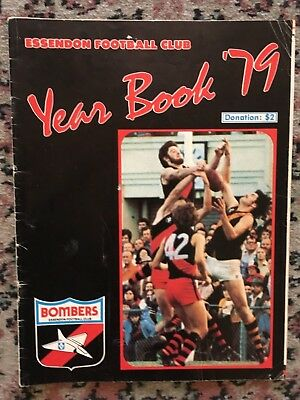 Vfl Essendon Bombers 1979 Year Book Signed By Eight (8) Players Daniher Foulds +