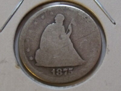1875-S Us Seated Liberty Twenty Cent Piece 20C Silver Coin