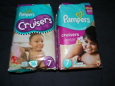 32 Vintage Pampers Cruiser size 7 over 41+LBS