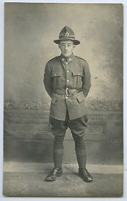 Ww1 Rp Npu Postcard Soldier New Zealand Expeditionary Force (Nzef) B34