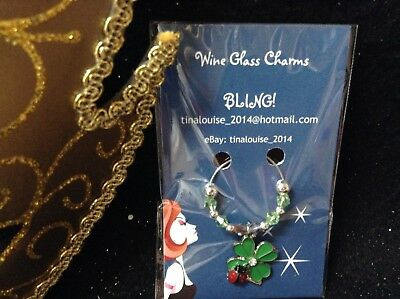 Wine Glass Charm - BLING! - Assorted Designs (Cactus, Ladybug, Mermaid, Flowers)
