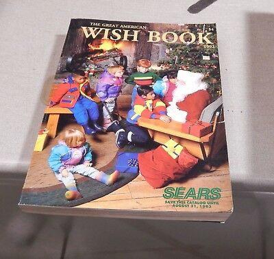 Vintage 1992 Sears Roebuck Christmas Catalog  Wish Book 830 Pgs