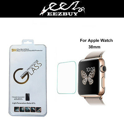 3 Pack Real Tempered Glass Film Screen Protector for Apple watch Iwatch 38mm