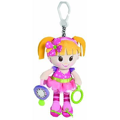 """Playgro - Activy Friend Doll BNWT 16"""" small (plastic) mirror & rattle Baby"""