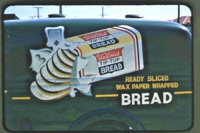 1950's 35 Mm Colour Slide Weston's Tip Top Bread Hand Painted Delivery Van B47