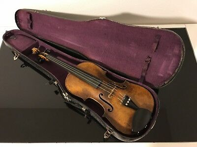 Nice Old Antique 4/4 Violin Labeled Copy of Joh. Bapt. Schweitzer Vintage German