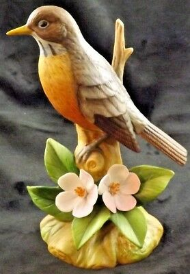 Sadek Andrea Vintage Robin Perched on Limb Very Nice 9286