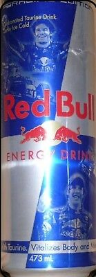 Red Bull Can 473ml F1 Racing Limited Edition Webber Vettel 2012 AUSTRALIA