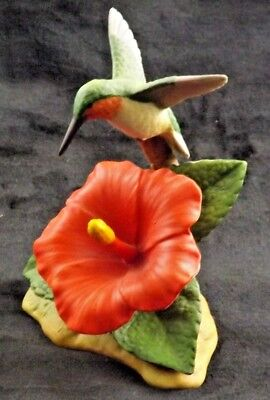 Sadek Andrea Vintage Brightly Colored Hummingbird 7342 Very Nice