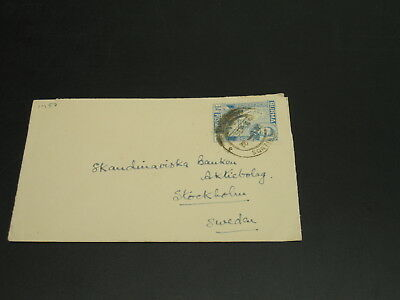Burma 1949 cover to Sweden *1457