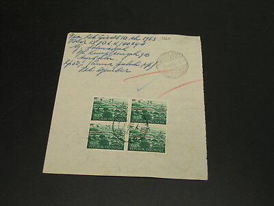 Indonesia 1963 stamps on document *1360