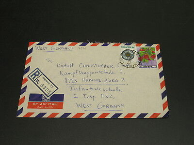Singapore 1976 registered airmail cover to Germany *1284