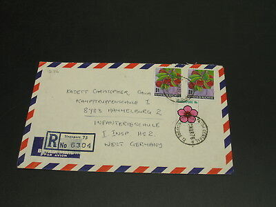 Singapore 1976 registered airmail cover to Germany *1286