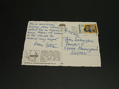 Singapore 1982 airmail postcard to Sweden *1290