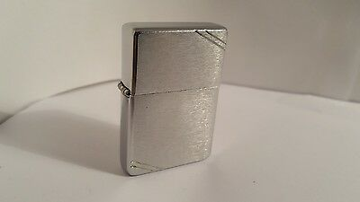 Zippo lighter - '37 series - brushed chrome with slashes